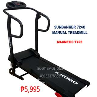 SUNBANKER MANUAL MAGNETIC TREADMILL