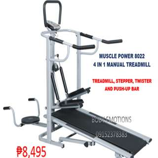 MUSCLE POWER 8022 4WAY MAUAL TREADMILL