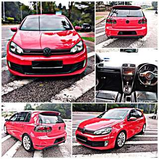 SAMBUNG BAYAR/CONTINUE LOAN  VW GOLF MK6 GTI 2.0 YEAR 2012 MONTHLY RM 1100 BALANCE 7 YEARS ROADTAX OCT 2018 TIPTOP CONDITION  DP KLIK wasap.my/60133524312/mk6