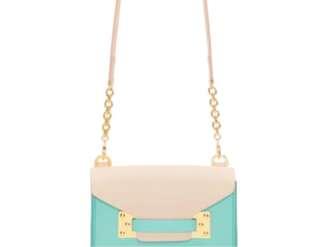 Sophie Hulme Pink & Blue Nano Milner Crossbody Bag