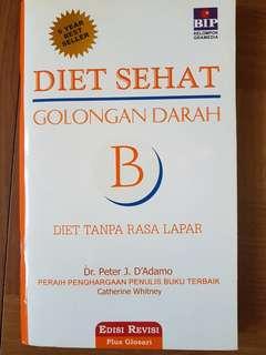 Diet sehat golongan darah.B