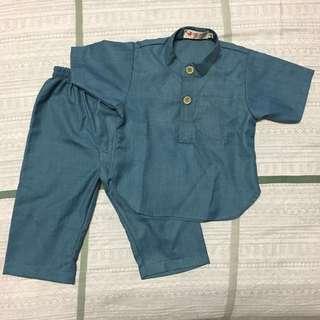 Dark Blue Baju Melayu