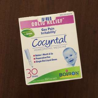 Cocyntal Colic Relief for gas pain irritability, homeopathic medicine