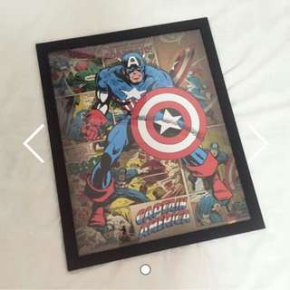 Vintage Captain America Poster
