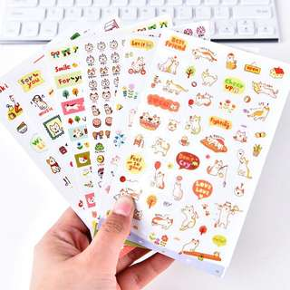 (Set of 6) Kitties Playtime Scrapbook / Planner Stickers #127