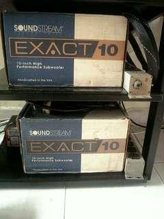全新舊版美國頂級sound stream10吋低音$1200一個