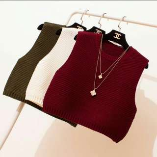 BNWOT Maroon Red Knitted Vest Top