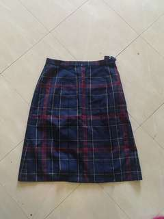 PLAID ULZZANG SKIRT