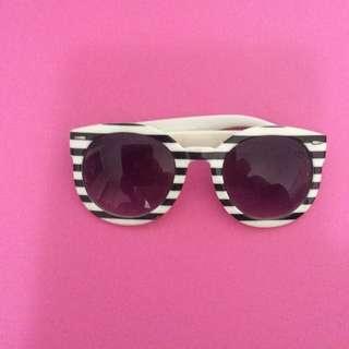 Large Striped Sunglasses