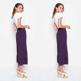 VL5410 New miss valley purple kulot pants
