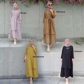 Baju atasan carey tunik blouse muslim