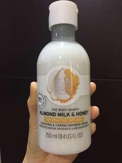 Almond milk and honey shower cream