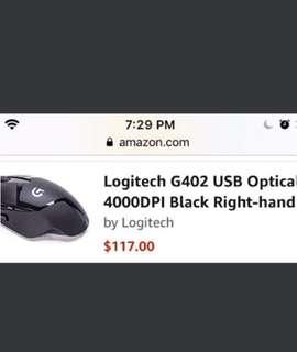 Logitech G402 Gaming Mouse 4000dpi (BNIB)