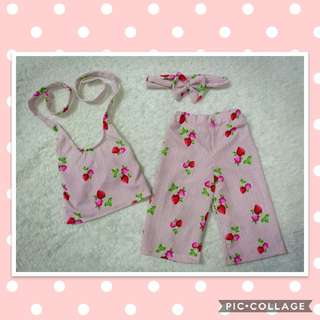 Ootd for lil girl (terno with turband)