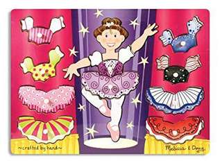 BNIP Melissa & Doug ballerina dress up peg puzzle