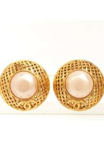 CHANEL vintage clip earrings 耳夾