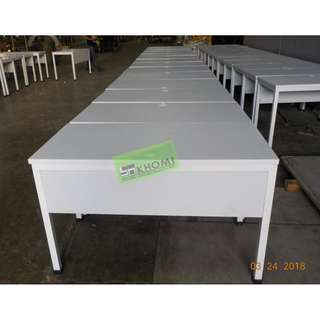 CUSTOMIZE OFFICE TABLE WITH MODESTY 120Wx60Dx75Hcm