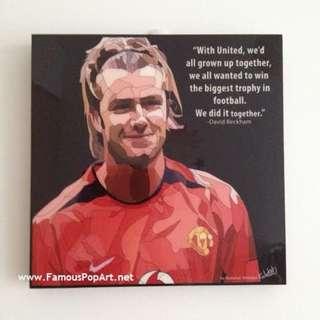 David Beckham PopArt! Portrait Wall Decoration Pop Art
