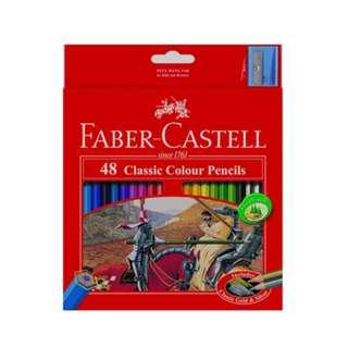 Faber-Castell Classic Colour Pencils - 48 Colors
