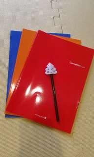 🚚 韓國帶回的筆記本加贈筆