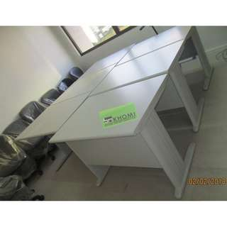 FST OFFICE TABLE 01 100X70cm LIGHT GRAY TOP & LEGS--KHOMI