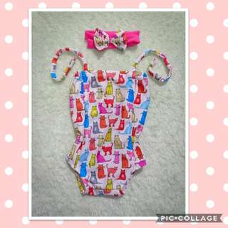 Ootd for Lil Girl (onesie with turband)