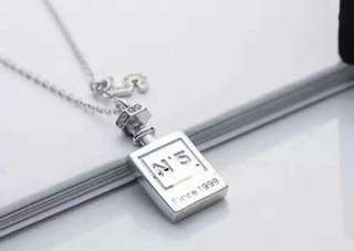 Chanel 925純銀香水瓶項鍊