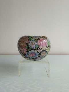 Republic Period Porcelain Brush Washer Pot Height 9cm Diameter 7.5cm Perfect