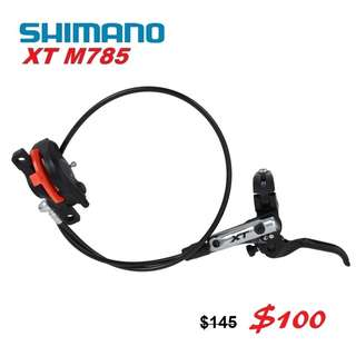 Shimano XT M785 Hydraulic Disc Brake Right Hnad Side Only-------- (XTR M9020 XT M8020 M8000 M785 SLX M7000 M675 M315 MT2 MT4 MT5 MT5E MT6 MT7 MT8 Trail) Dyu