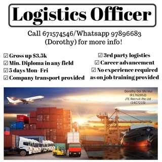 Logistics Officer (Tampiness & Changi)