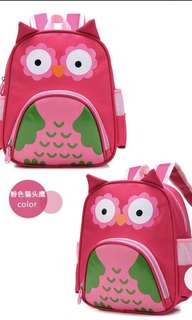 Brand New Pink Owl backpack / School bag / Toddlers / Pre-nursery / Lightweight / Owl / Ladybird / Pink / Blue