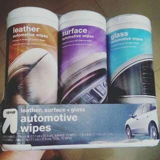 Leather / Surface / Glass automotive wipes fr Up & Up