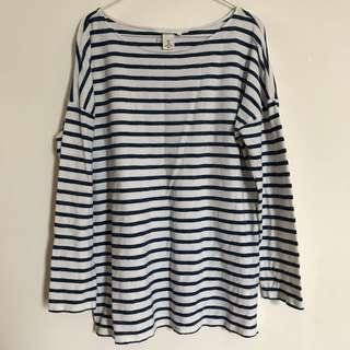H&M 海洋風長袖上衣