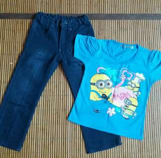 Set Tshirt dan seluar