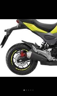 🚚 Honda Msx sf 輪框反光貼紙 精品改裝