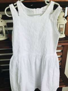 Pumpkin Patch White Dress (6yrs)
