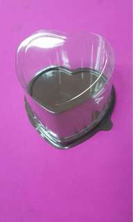 Heart shaped cupcake/pastry/give away container P380.00/pack of 100 pcs.