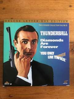 The Connery Collection Vol II Thunderball- Diamonds Are Forever-You Only Live Twice