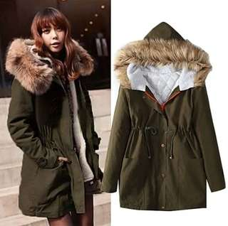 Cotton thickening long coat #WinterJacket