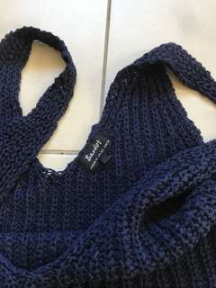 Bardot Blue Knit