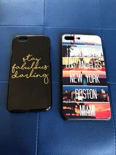 Iphone cover 6s and 8+