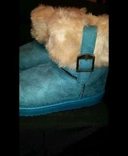 Teal Winter Boots
