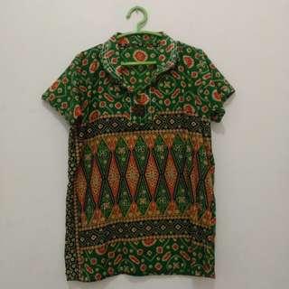 Baju batik wanita hijau