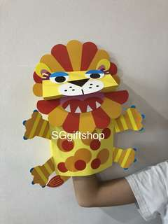 Colorful DIY art and craft Lion hand puppet- party games, birthday goodies favors, goody bag gift