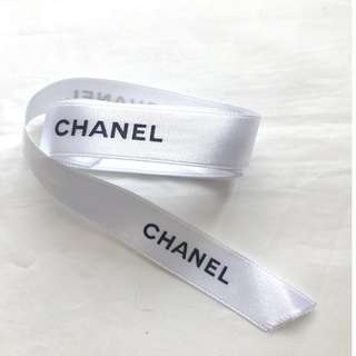 Chanel white gift ribbon for bag wallet box 禮盒絲帶