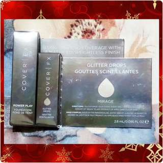 COVER FX Power Play Foundation / Glitter Drops
