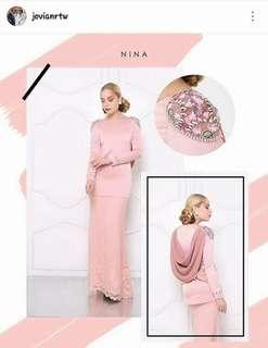 Jovian Nina kurung-peach