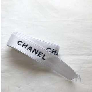 Chanel white gift ribbon for bag wallet box 禮盒絲帶