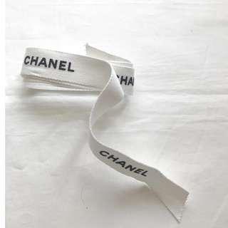 Chanel off-white gift ribbon for bag wallet box 禮盒絲帶