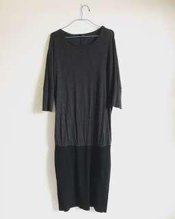 MANGO loose top tight bottom dress.